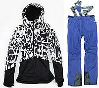 Лыжный костюм BLACK-BLUE