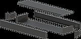 Корпус металевий Rack 1U, модель MB-1100SP (Ш483(432) Г102 В44) чорний, RAL9005(Black textured), фото 2