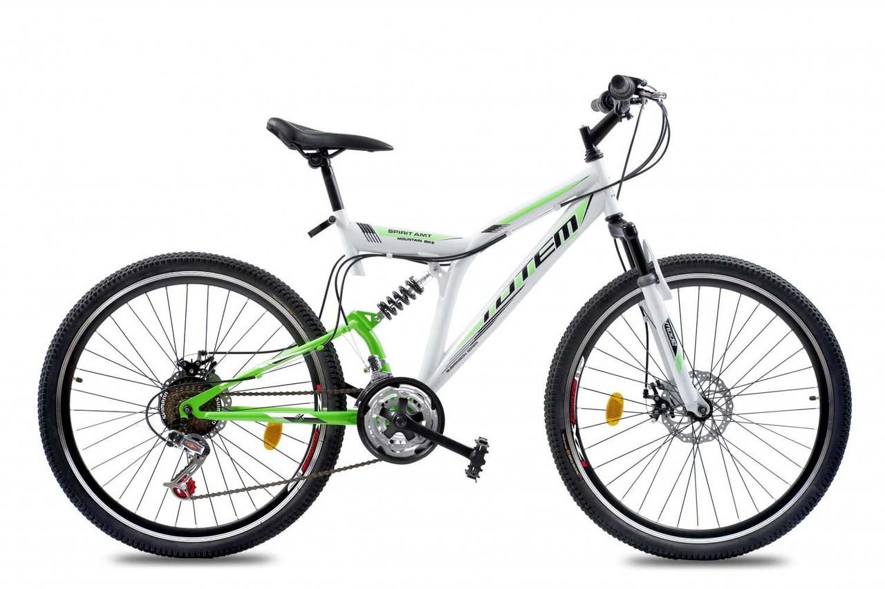 """Подростковый велосипед TOTEM SPIRIT AMT 24"""" Белый/Салатовый"""