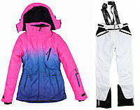 Лыжный костюм WHITE-PINK