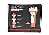 Эпилятор бритва сLED подсветкой2 в 1 GEMEI GM 3057, аккумулятор