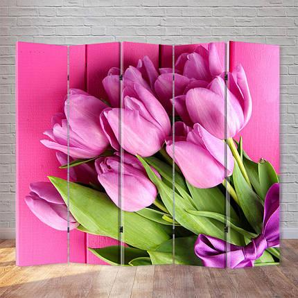 """Ширма """"Розовые тюльпаны"""", фото 2"""
