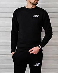 Весенний спортивный костюм New Balance черный топ реплика