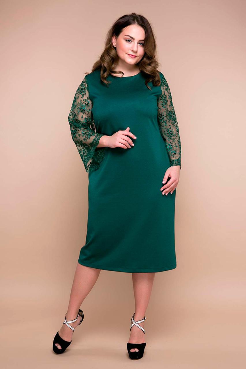 44690edbf6f40a3 Вечернее платье для полных женщин Тиара зеленое 54 - V Mode, прямой  поставщик женской одежды