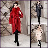 Пальто 44,46,48,50,52,54 Виктори красивое женское зимнее батал,большой размер теплое красное серое коричневое