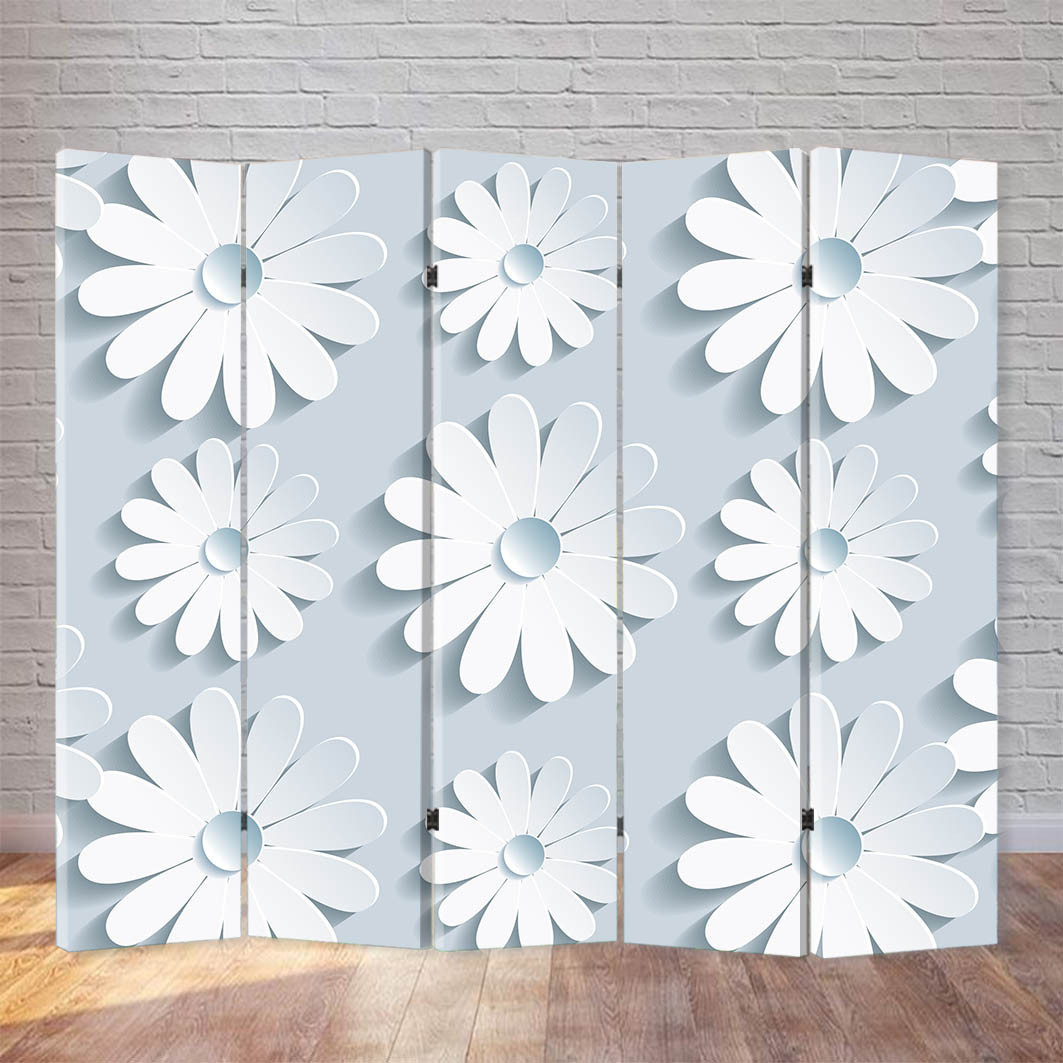 "Ширма ""Белые цветы"""