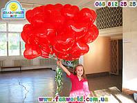Букет из 50 шаров - сердец