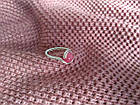 Кольцо с натуральным камнем нефрит (окрашенный) розовый цвет, фото 6