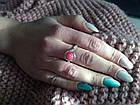 Кільце з натуральним каменем нефрит (пофарбований) рожевий колір, фото 7