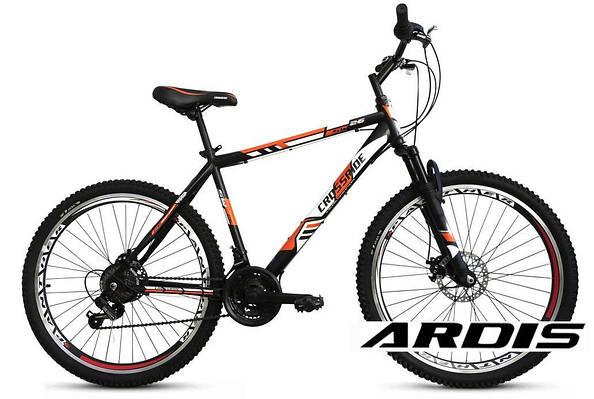 """Горный велосипед CROSSRIDE FLASH MTB 26"""" 19""""  Черный/Зеленый"""