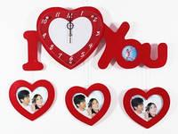 Настенные часы деревянные  Семейные Любовь