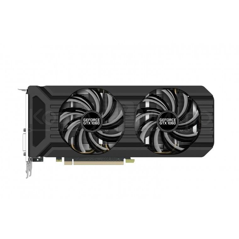 Видеокарта 6Gb PCI-Exp Palit GeForce GTX1060 DUAL GDDR5 (192bit) DVI/HDMI/3xDP (RTL) NE51060015J9-1061D