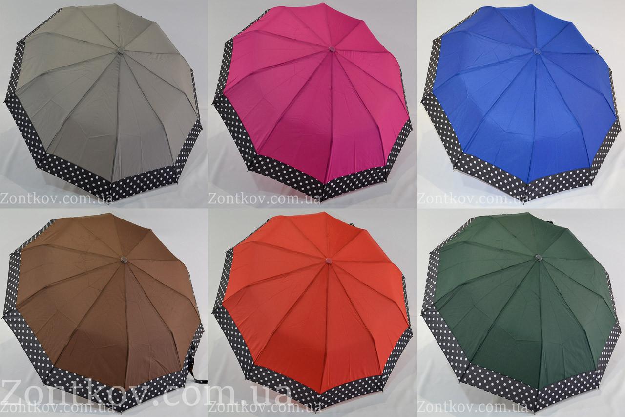 """Однотонний парасолька напівавтомат з каймою оптом на 10 спиць від фірми """"SL"""""""