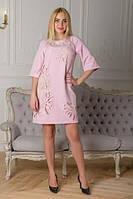 Платье розовое Хризантема.