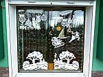 Новогодняя виниловая наклейка - Новогодняя сказка на окно 117х50 см х 3 шт, фото 3