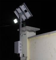Пример системы освещения двора в частном доме №1