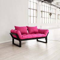 Диван Каптюр Edge черный каркас, диван раскладной,маленький диван,диван трансформер.