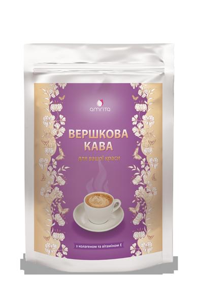 Кофе Вершкова кава с коллагеном и витамином Е, дой-пак 180 г-