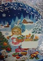 Пакет для конфет Новый Год 25х40см (100шт)