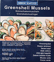 Мясо зеленых мидий в ракушках (1 кг)