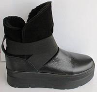 Ботинки женские молодежные кожаные черные, ботинки женские молодежные замша от производителя модель Т1518-2