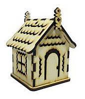 Деревянный домик №4 подвесной сувенирный Атлас,7х7х9 см AS-4242
