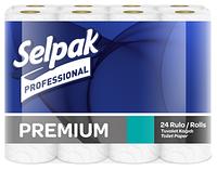 Selpak Pro. Premium Папір туалетний целюлозний 3-х шар. 18,6м. 24шт (3шт/ящ)