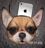 Удобная находка для детей в школу или садик - сумка-кошелёк с 3D принтом собаки чихуахуа