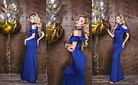 Шелковое платье в пол 47- 334