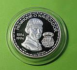 Португалия 200 эскудо 1994 г. серебро Генрих Мореплаватель. Парусник ,корабль., фото 2