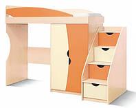 Кровать-чердак+лестница комод Саванна СМ, фото 1