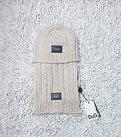 Демисезонные шапки для девочек D&G
