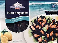 Мидии в раковине натуральные (0,45 кг)