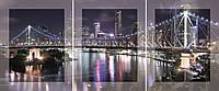 Модульная картина на стекле с МДФ подложкой Мост 40*50 * 3 шт