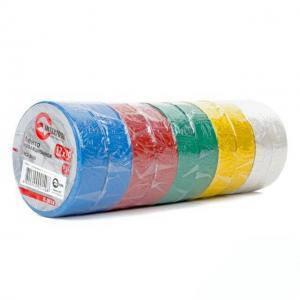 Лента изоляционная Intertool 0,15 мм х 17 мм х 10 м, цветная, упаковка 10 шт (арт. IT-0014)