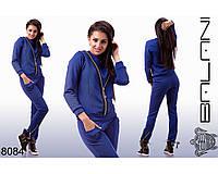 Модный синий женский спортивный  костюм  -  8084 р-р S   M   L женская одежда от производителя Украина
