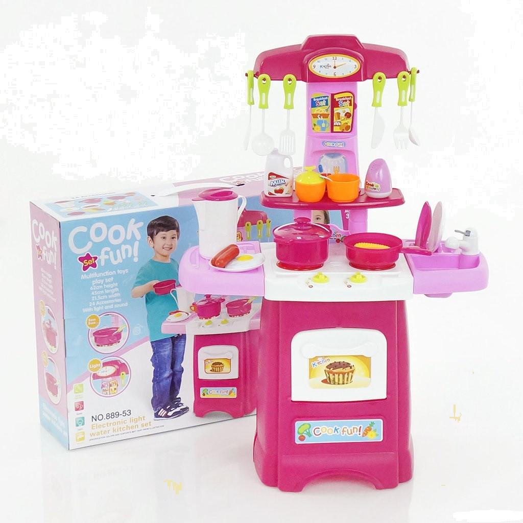 Детская кухня интерактивная с часами и мойкой. Течет вода, звуковые и световые эффекты.