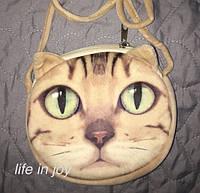 Удобная детская сумочка с 3D принтом кошечки! Отлично подойдет для девочек!