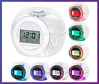 Электронные настольные часы с подсветкой Changing Light Alarm Clock, фото 1