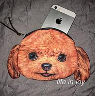 Яркая и удобная детская сумка - кошелек с 3D принтом собаки