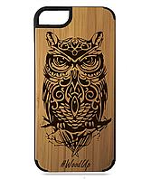 Деревянный чехол на Iphone 5/5s/se  с лазерной гравировкой