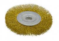 Щетка-крацовку дисковая латунная 100х16мм, Spitce (18-052)