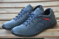 Кроссовки мужские Columbia кожаные синие