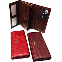 Кошелек Fani 040-2036 красный женский тройного сложения из натуральной кожи монетница снаружи