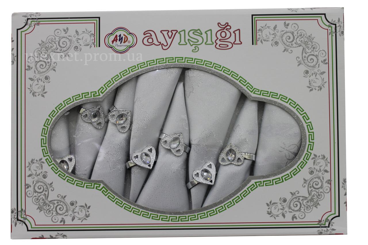 """Скатерть с салфетками """"Aysigi"""" AYD 160*220 см"""