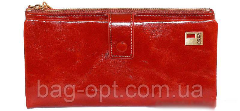Женский кошелек из натуральной кожи Jccs (18,5x10 см)