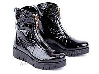 Женские ботинки  лаковые  V 890