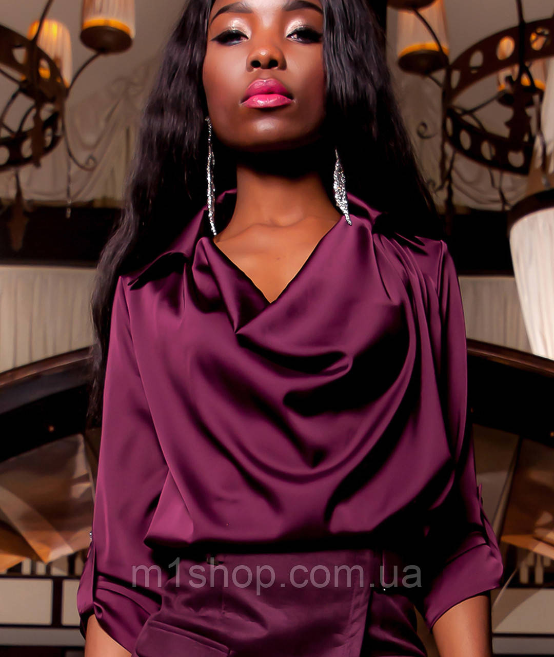 Женская красивая шелковая блузка (Кантилиjd)