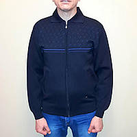 Кофта мужская синяя на молнии Novel, фото 1