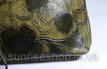 Косметичка кожаная тёмная, фото 3